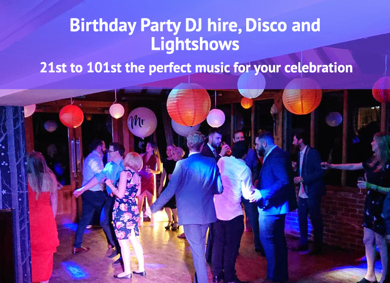 Birthday Parties DJ Hire Disco and Lightshow